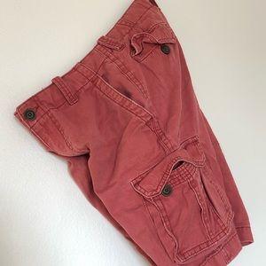 """Red Aeropostale Cargo Shorts Size 29"""""""